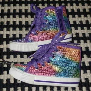 Rainbow sequined sneakers
